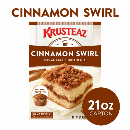 Krusteaz Cinnamon Swirl Crumb Cake & Muffin Mix Perspective: front
