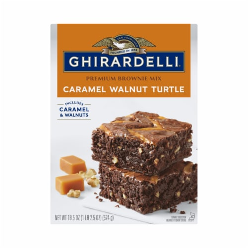 Ghirardelli Caramel Turtle Premium Brownie Mix Perspective: front