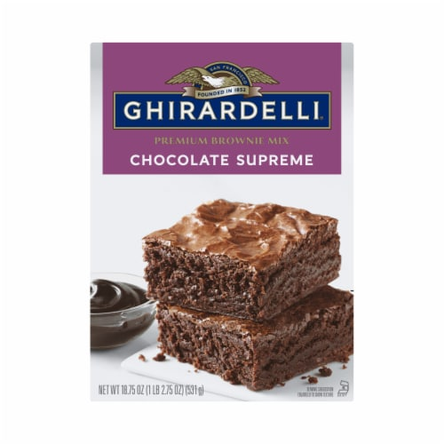 Ghirardelli Chocolate Supreme Premium Brownie Mix Perspective: front