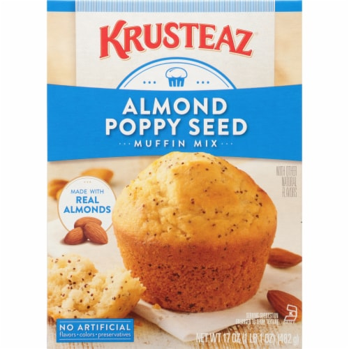 Krusteaz Almond Poppy Seed Muffin Mix Perspective: front