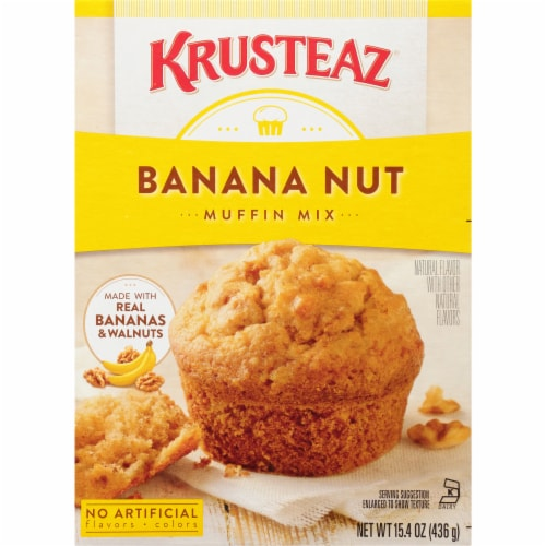Krusteaz Banana Nut Muffin Mix Perspective: front