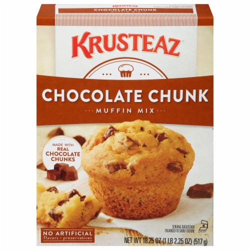 Krusteaz® Chocolate Chunk Muffin Mix Perspective: front