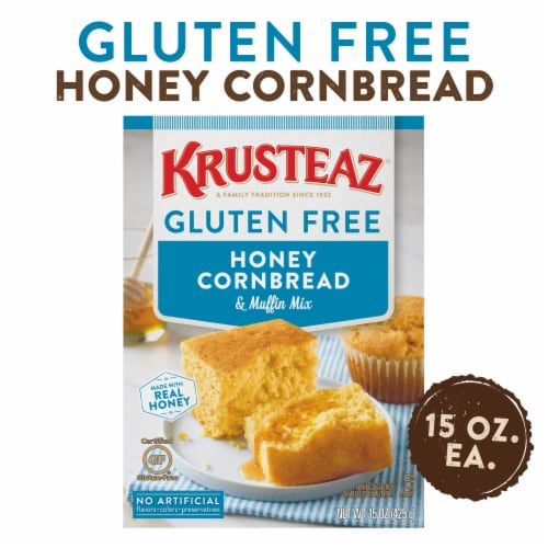 Krusteaz Gluten Free Honey Cornbread & Muffin Mix Perspective: front
