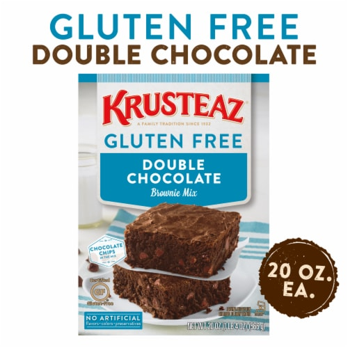 Krusteaz Gluten Free Double Chocolate Brownie Mix Perspective: front