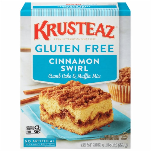Krusteaz Gluten Free Cinnamon Swirl Crumb Cake and Muffin Mix Perspective: front