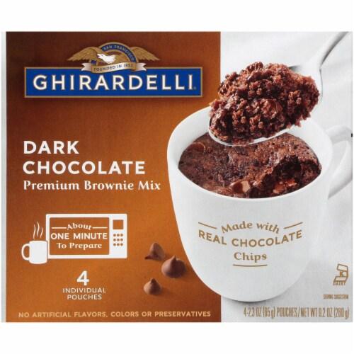 Ghirardelli Dark Chocolate Premium Brownie Mix Perspective: front