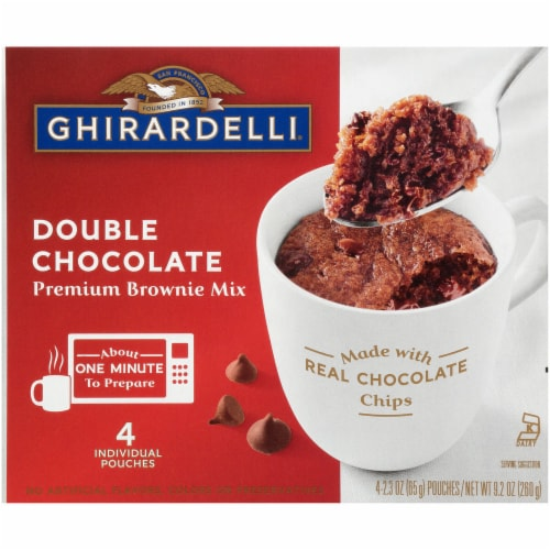 Ghirardelli Double Chocolate Premium Brownie Mix Perspective: front