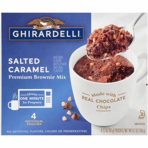 Ghirardelli Salted Caramel Premium Brownie Mix Perspective: front