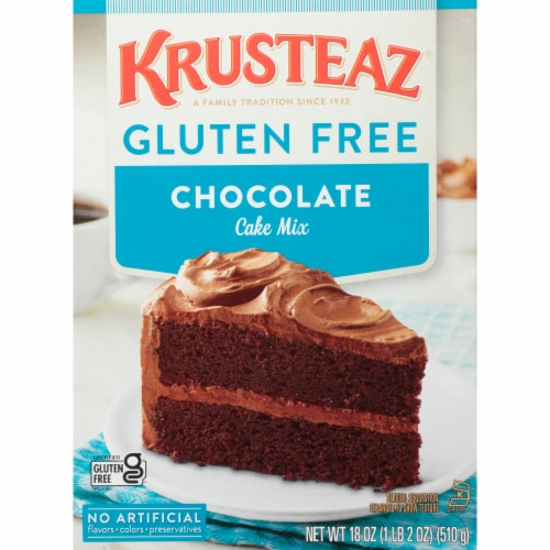 Krusteaz Gluten Free Chocolate Cake Mix Perspective: front