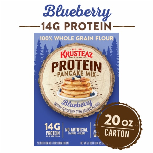 Kristeaz Protein Blueberry Pancake Mix Perspective: front
