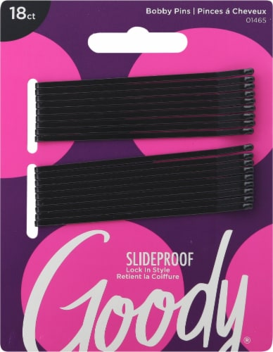 Goody® Black Bobby Pins Perspective: front