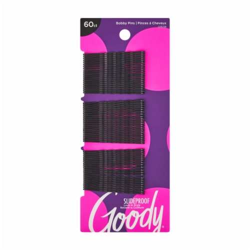 Goody SlideProof Black Bobby Pins Perspective: front
