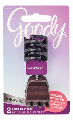 Goody Colour Collection Stay Put Black Mini Claw Clip Perspective: front