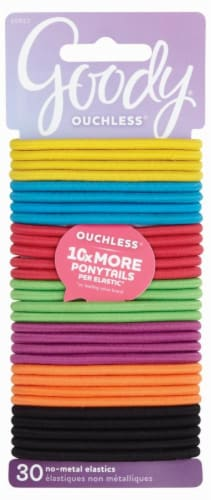 Goody Ouchless Candy Coated No-Metal Elastics Perspective: front