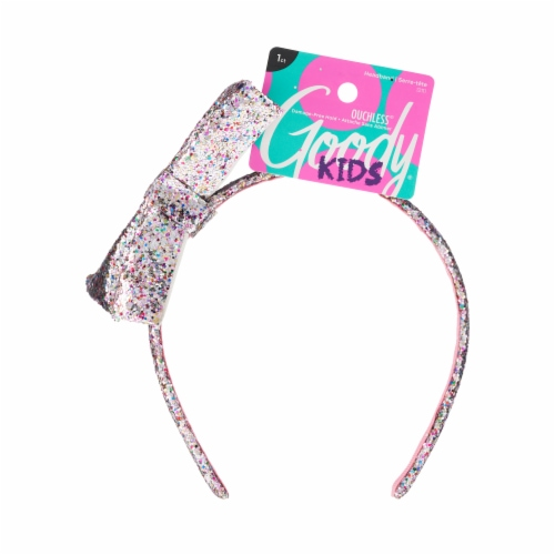 Goody Girls Glitter Bow Headband Perspective: front