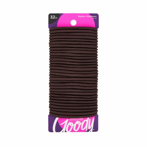 Goody Ouchless Chocolate Cake Medium Hair Elastics Perspective: front