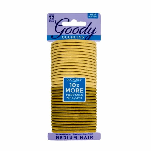 Goody Ouchless Beach Blonde Medium Hair Elastics Perspective: front