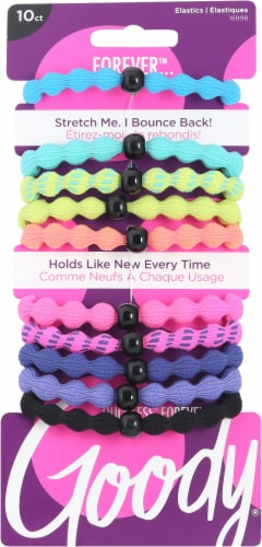 Goody Ouchless Forever Neon Elastics 10 Count Perspective: front