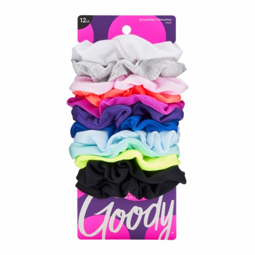 Goody® Assorted Bright Large Cotton Scrunchies Perspective: front