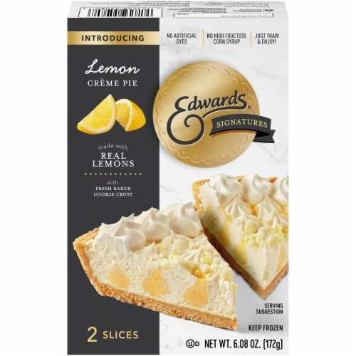 Edwards Signatures Lemon Cream Pie Slices Perspective: front