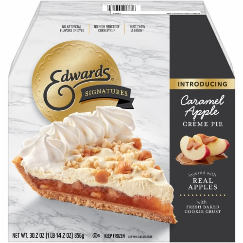 Edwards Signatures Caramel Apple Creme Pie Perspective: front