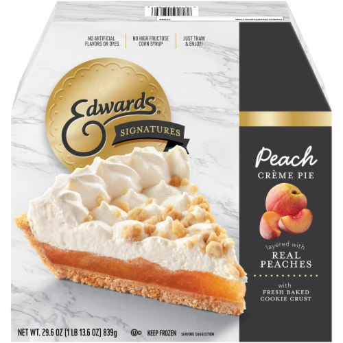 Edwards Signatures Peach Creme Pie Perspective: front