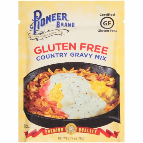 Pioneer Brand Gluten Free Country Gravy Mix Perspective: front