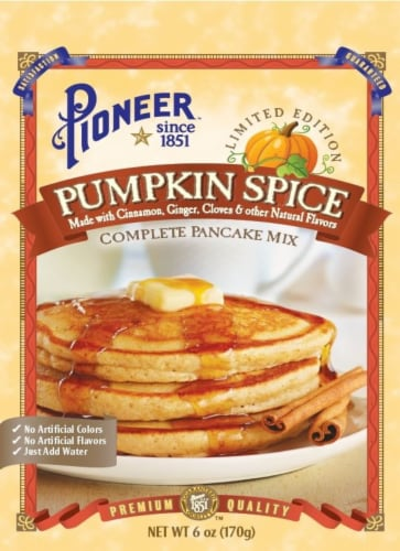 Pioneer Pumpkin Spice Complete Pancake Mix Perspective: front