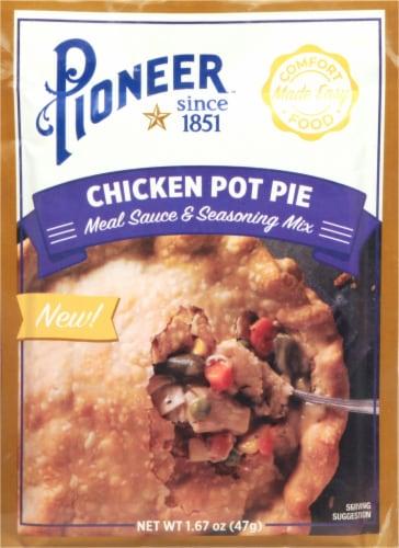 Pioneer Chicken Pot Pie Meal Sauce 7 Seasoning Mix Perspective: front