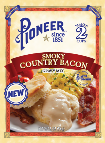 Pioneer Brand Smoky Country Bacon Gravy Mix Perspective: front