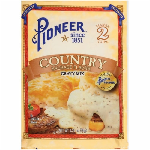 Pioneer Brand Country Sausage Flavor Gravy Mix Perspective: front