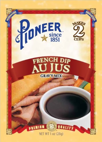 Pioneer French Dip Au Jus Gravy Mix Perspective: front