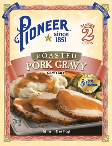 Pioneer Brand Roasted Pork Gravy Mix Perspective: front