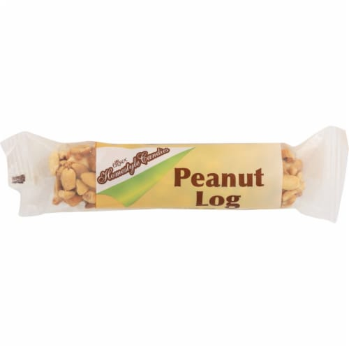 Crown Homestyle Candies Peanut Log Perspective: front