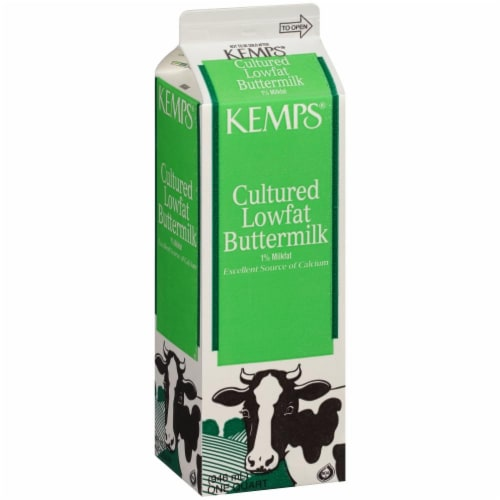 Kemps Cultured 1% Lowfat Buttermilk Perspective: front