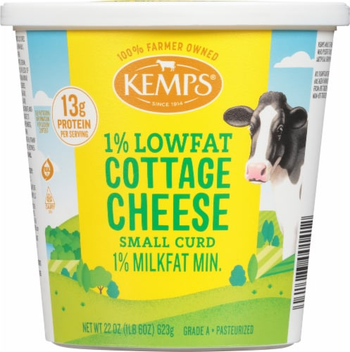 Kemps 1% Lowfat Cottage Cheese Perspective: front