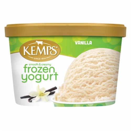 Kemps Smooth & Creamy Vanilla Frozen Yogurt Perspective: front