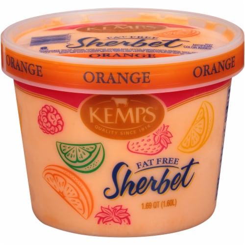 Kemps Fat Free Orange Sherbet Perspective: front