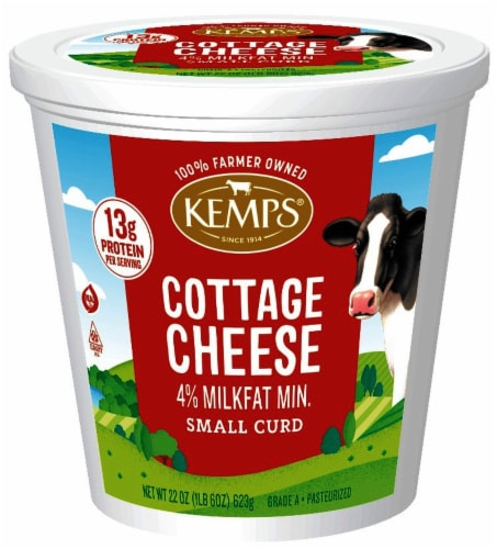 Kemps 4% Milkfat Small Curd Cottage Cheese Perspective: front