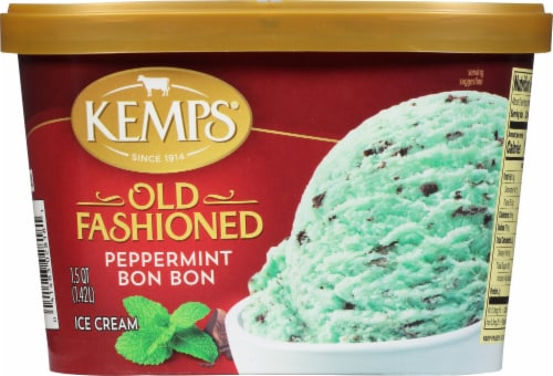 Kemps Old Fashioned Peppermint Bon Bon Ice Cream Perspective: front