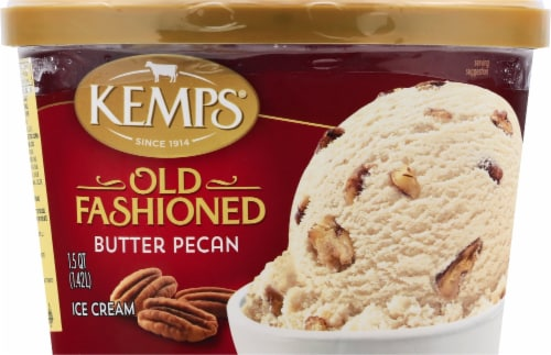 Kemps Old Fashioned Butter Pecan Ice Cream Perspective: front