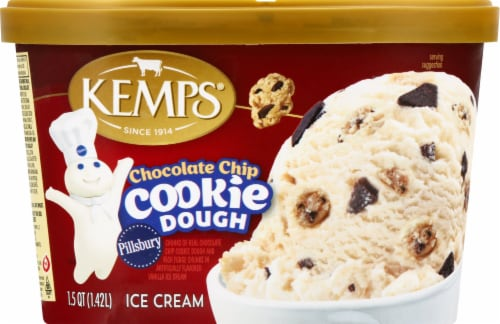 Kemps Chocolate Chip Pillsbury Cookie Dough Ice Cream Perspective: front