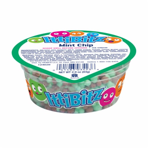 Kemps Ittibitz Mint Chip Ice Cream Perspective: front
