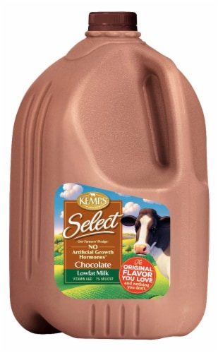 Kemps Select 1% Lowfat Chocolate Milk Perspective: front