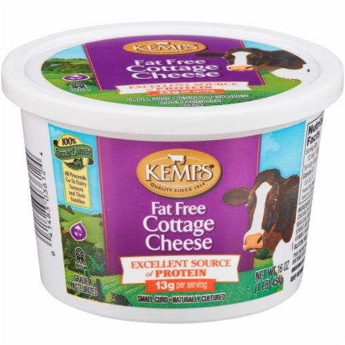 Kemps Fat Free Cottage Cheese Perspective: front