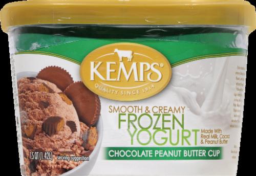 Kemp's Chocolate Peanut Butter Cup Frozen Yogurt Perspective: front