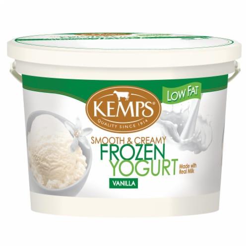 Kemps Low Fat Vanilla Frozen Yogurt Perspective: front