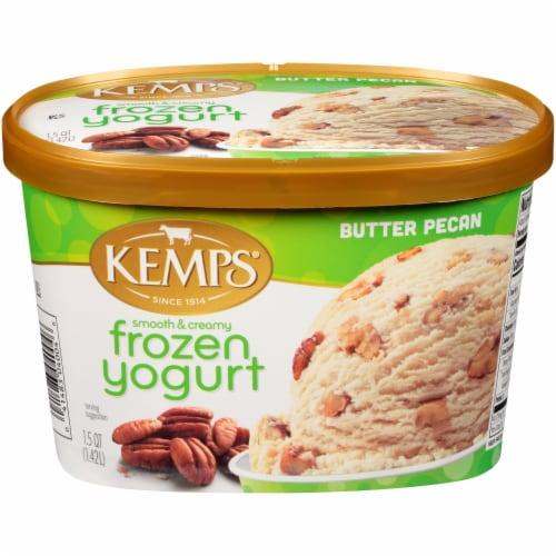 Kemps Butter Pecan Frozen Yogurt Perspective: front