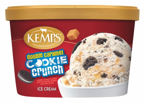 Kemps Double Caramel Cookie Crunch Ice Cream Perspective: front