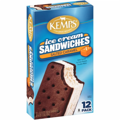 Kemps Salted Caramel Ice Cream Sandwiches Perspective: front